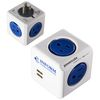 ETL™-Certified Power Cube Wall Charger with 2 USB and 2 AC Ports