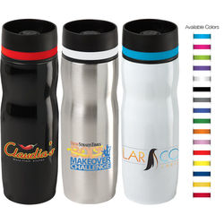16 oz Hot/Cold Vacuum Insulated Bottle with Color Accent Band