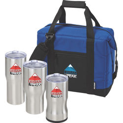 Gift Set Includes 3 Sizes of Insulated Tumbler in a Cooler Bag