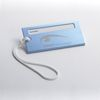 Executive Blue Metal Colored Luggage Tag