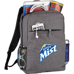 """Trendy """"Snow Canvas"""" Budget Compu-Backpack Holds up to 15"""" Laptops"""