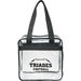 """12"""" x 12"""" Clear Zippered Event Tote - NFL Security Approved"""
