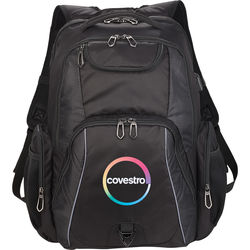 "TSA Compliant Backpack with Built-In USB Port and Cable - Holds 17"" Laptops"