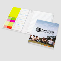 "4.5"" x 6.25"" Journal with Post-it® Notes and Flags"