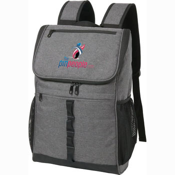 "Trendy ""Snow Canvas"" Heathered Grey Compu-Backpack"