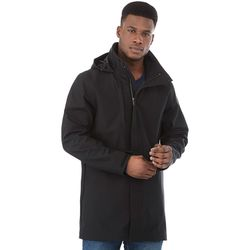 Quick Ship MEN'S Softshell Hooded Rain Coat (50°F to 23°F)