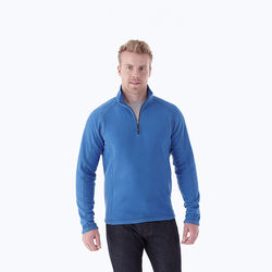 Quick Ship MEN'S Quarter-Zip Fleece with Retail Inspired Contrast Stitching and Thumb Holes