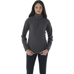 Quick Ship LADIES' Quarter-Zip Fleece with Retail Inspired Contrast Stitching and Thumb Holes