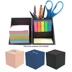 Fold-Away Origami Cube Magically Converts into a Notepad and Pen Holder