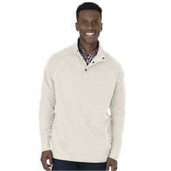Men's Quarter Snap Pullover with Raglan Sleeves and Inside-Out Fabric