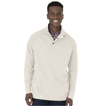 Charles River® Men's Pullover with Raglan Sleeves and Inside-Out Fabric