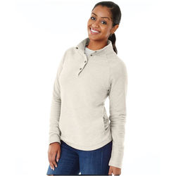 Ladies' Quarter Snap Pullover with Raglan Sleeves and Inside-Out Fabric