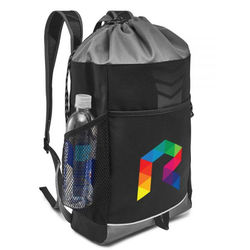 "10.5"" x 20"" Polyester Drawstring Backpack"