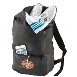 Brookstone® Dash Packable Travel Backpack Folds Into Pouch