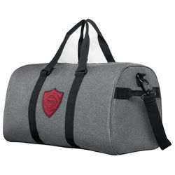 "20"" Snow Canvas Duffel Bag with Shoe Compartment and Faux-Leather Logo Patch"
