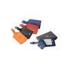 Diamond Textured Leather Luggage Tag