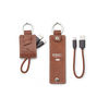 Leather Key Ring and Charging Cable Kit