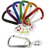 Large Carabiner Keytag with Imprint on Oval Tag