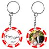 Poker Chip Photo Frame Keytag