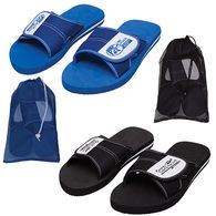 Solid Adult Slide Flip Flops in Mesh Bag