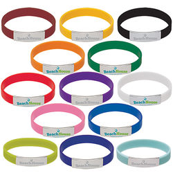 Silicone Bracelet with Metal Accent