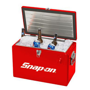 Metal Toolbox Cooler Holds 20 Cans