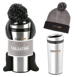 Tailgating Gift Set with Beanie and Travel Tumbler