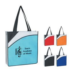 "15"" x 16"" Non-Woven 3-Tone Conference Tote Bag with 24"" Handles"