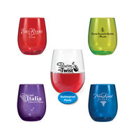 12 oz. Stemless PLASTIC Wine Glass