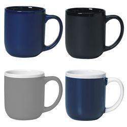 17 oz Ceramic Mug with Matte Finish Outside and Shiny Inside