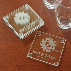 Economy Glass Coaster - Set of 4