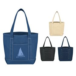 "15"" x 12"" Cotton Canvas Yacht Tote Bag with 22"" Handles"