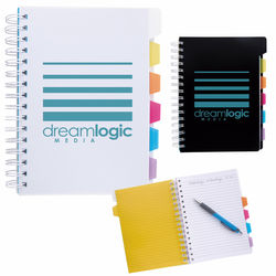 "6-7/8"" x 8-1/4"" Spiral Notebook with Colored Tabs"