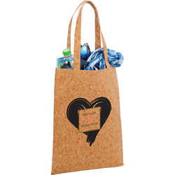 "17"" x 13"" Real Cork Tote Bag with 10"" Handles"