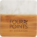 Marble and Bamboo Coaster - Set of 4