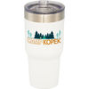 30 oz Powder-Coated Hot/Cold Vacuum Insulated Tumbler Fits Car Cup Holders