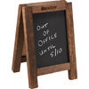 Wooden Easel Stand with Chalkboard and Cork Board