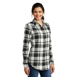 Ladies' Plaid Flannel Shirt