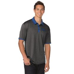 Men's Heathered Polo with Colorful Collar