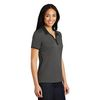 Ladies' Heathered Polo with Colorful Collar