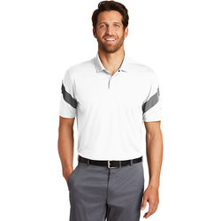 Men's Nike® Striped Sleeve Wicking Polo Shirt