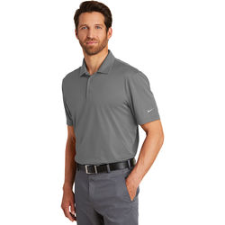 Men's Nike &reg'  Wicking Polo Shirt with Subtle Grid Texture