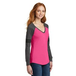 Ladies' Game Day V-Neck Long Sleeve Tee