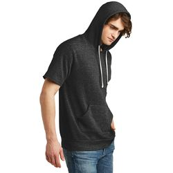Men's Vintage Soft Short Sleeve Hooded Sweatshirt