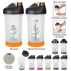20 Oz. Revablend™ Manual Blender Cup Create Shakes, Salsa or Smoothies On The Go