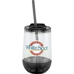 15 oz Double-Wall Tumbler with Straw