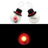 Light-Up LED Snowman Ornament with Top Hat