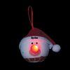 Light-Up LED Snowman Ornament with Santa Hat