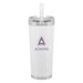24 oz Hot/Cold Vacuum Insulated Tumbler with Silicone Straw