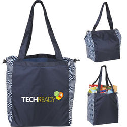 """15"""" x 10""""  Packable Large Trendy Cinch-Top Tote"""